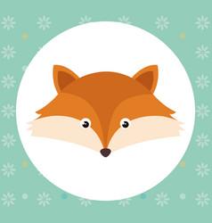 Cute fox head tender character vector