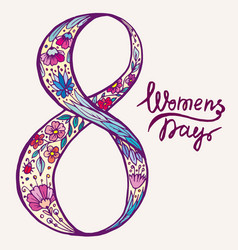 doodle figure eight female day vector image