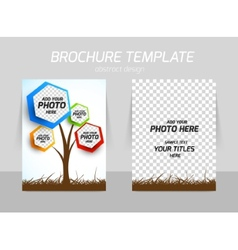 Flyer template back and front design vector image vector image