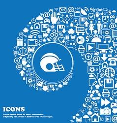 football helmet icon sign Nice set of beautiful vector image