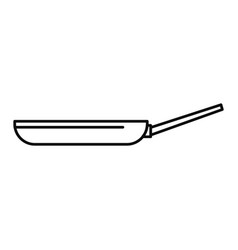 fry pan icon outline style vector image