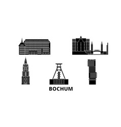 germany bochum flat travel skyline set germany vector image