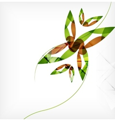 Green leaves spring nature design concept vector image