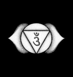 Hand drawn chakra ajna vector