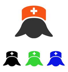 Hospital nurse head flat icon vector