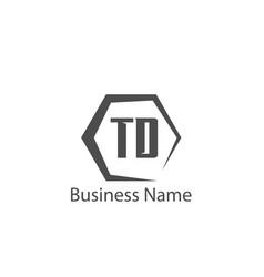 Initial letter td logo template design vector