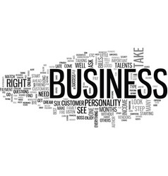 Is this business right for you text background vector