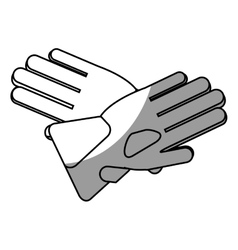 Isolated gloves of winter cloth design vector image