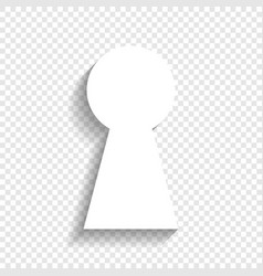 Keyhole sign white icon vector