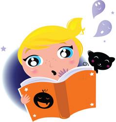 kid reading vector image