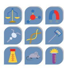 lab symbols test medical laboratory vector image