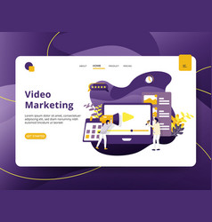 landing page video marketing modern style vector image
