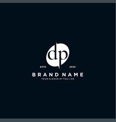 Letter dp logo design vector