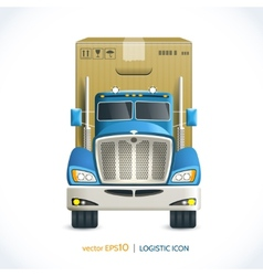 Logistic icon truck vector image