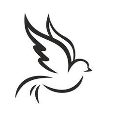 Logo flying bird vector