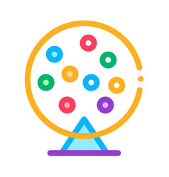 Lottery drum icon outline vector