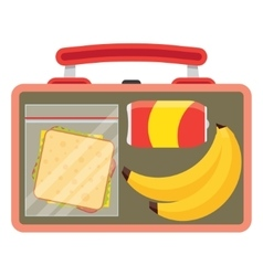 Lunchbox with school lunch vector