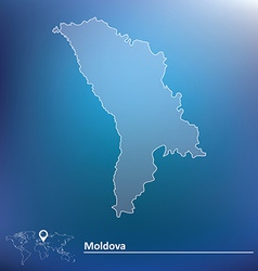 Map of Moldova vector