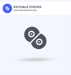 Mitosis icon filled flat sign solid vector