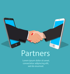 Mobile partnership concept vector