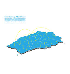 Modern of saint helena map connections network vector