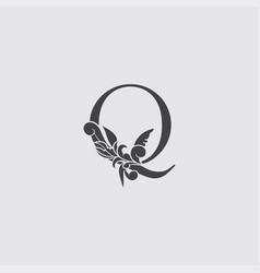 Monogram letter q luxury logo icon vintage deco q vector