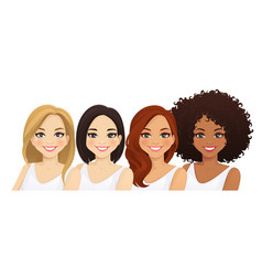 Multiethnic women vector