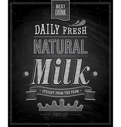 Natural Milk chalk vector image