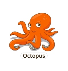 Octopus sea animal fish cartoon vector image