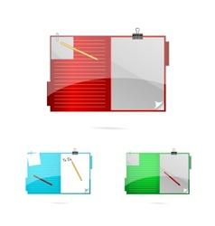 office folders set vector image