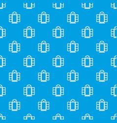 Open narrow window frame pattern seamless vector