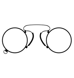 pince-nez old retro vintage icon stock vector image