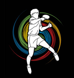 ping pong player table tennis vector image