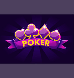 poker banner background for lottery or casino vector image