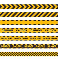 police crime scene barrier tape seamless set on vector image