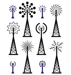 Radio towers vector