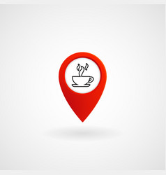 red location icon for cafe eps file vector image