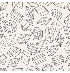 seamless pattern with geometric crystals vector image