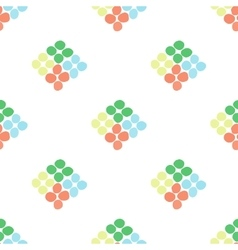 Seamless pattern with rhombus of circles on a vector image