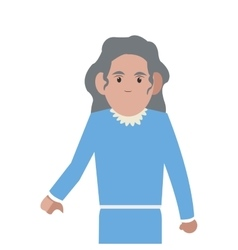 senior woman icon vector image
