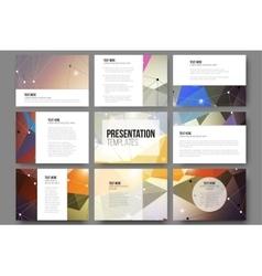 Set of 9 templates for presentation slides vector image