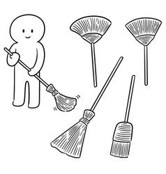 Set of broom vector