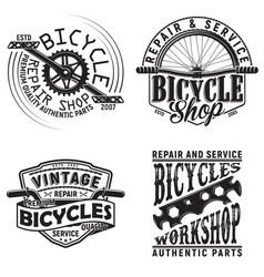 set vintage emblem design vector image