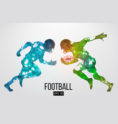 silhouette of a american football rugby vector image