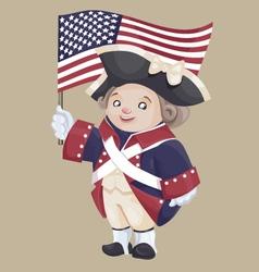 smiley character in Ameriacan Independance War vector image