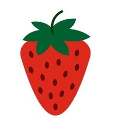 Strawberry flat icon vector