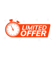 super limited offer clock time icon promo price vector image