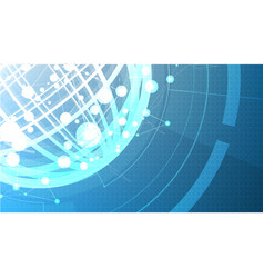 Technological abstract global background vector