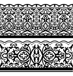 Traditional arabic seamless border vector image