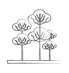 trees icon image vector image